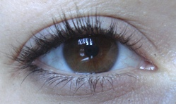 my eye with mineral fusion. You cant tell but i cropped out the flaky bits